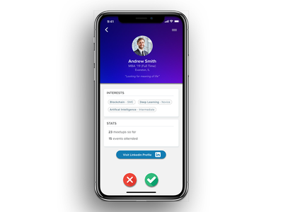 DeBuzz App - Profile meetup