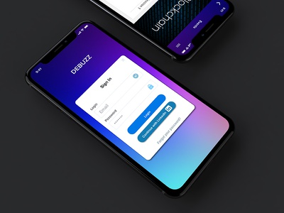 DeBuzz iPhone X Mockup application meetup iphonex