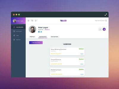 VerID Dash blockchain verid portal verification dashboard app