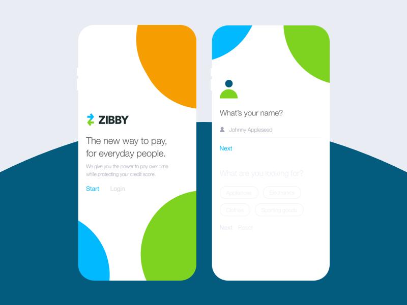 Mobile on boarding for finance startup ux ui on boarding material design illustration finance branding
