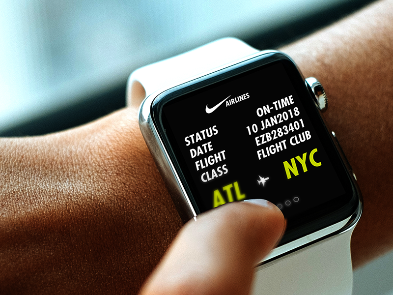 Nike Airlines Apple Watch Ui/Ux user experience user interface tech watch apple ux ui nike