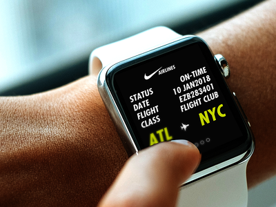 Nike Airlines Apple Watch Ui/Ux