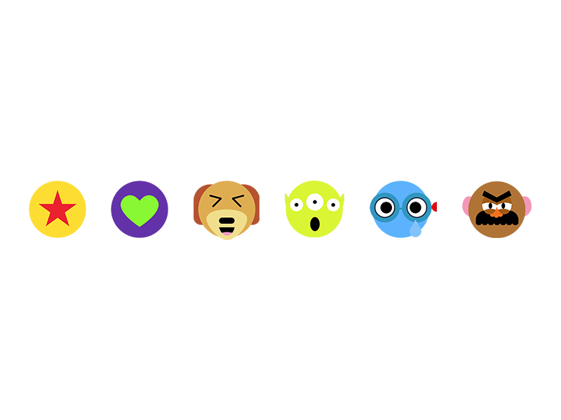 Facebook reactions - Toy Story themed pixar disney toy story facebook illustration emoji angry sad wow funny love like