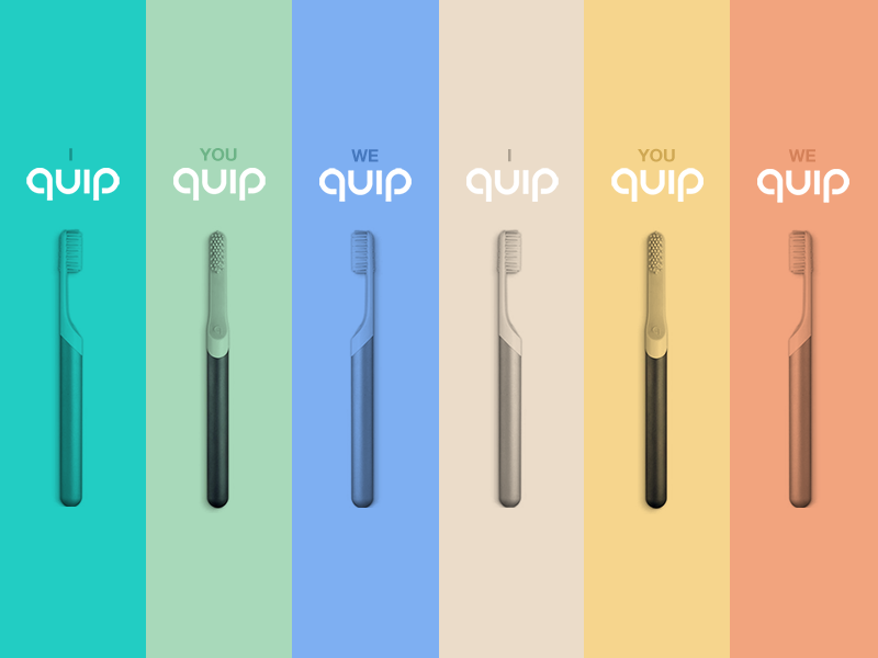 Ad campaign for Quip, the hippest toothbrush on the market marketing cta web banners poster ad ads marketing campaign campaign flat design minimal branding toothbrush quip