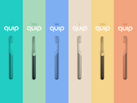 Ad campaign for Quip, the hippest toothbrush on the market