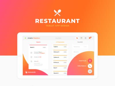 A tablet app design for restaurant owners 🍕