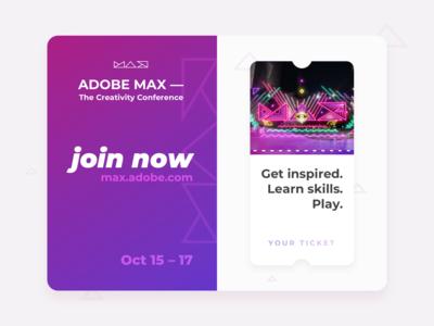 Adobe MAX — The Creativity Conference, Invitation Concept