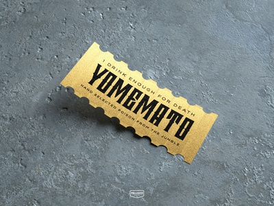 YOMEMATO texture drink cinema4d 3d branding brand logo poisonous poison ticket
