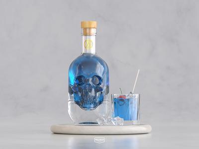 YOMEMATO 3d cinema4d branding brand logo packaging bottle drink poisonous poison cocktail