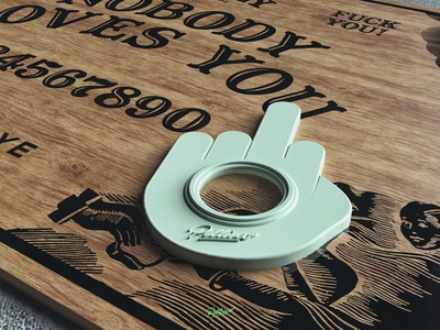 Ugly Board mistery design ouija board ouija wood cinema4d 3d