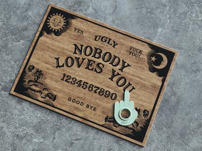 Ugly Board design wood cinema4d 3d ouija board ouija mistery