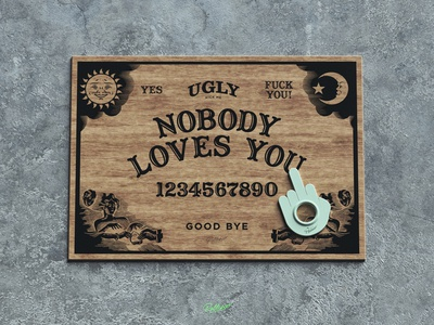 Ugly Board design wood cinema4d 3d mistery ouija board ouija