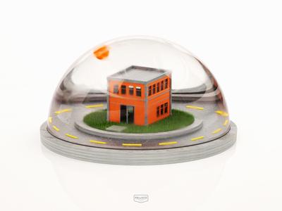 Stay Home glass dome cinema4d 3d home virus coronavirus stayhome