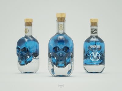 YOMEMATO alcohol color blue branding brand logo typography design packaging drink poisonous poison bottle