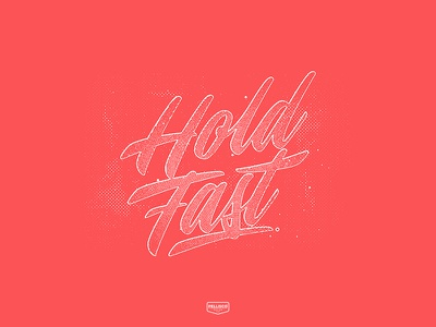 Hold Fast type color branding brand logo lettering typography design
