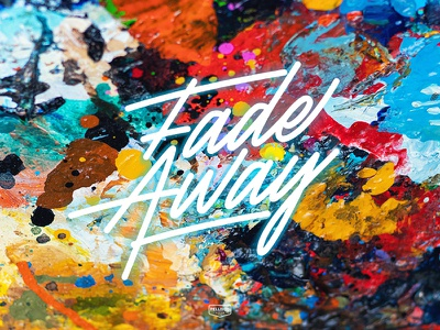 Fade Away type colors acrylic oilpainting ink pallette color branding lettering typography