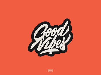 Good Vibes vintage type brands calligraphy color branding brand logo lettering typography design