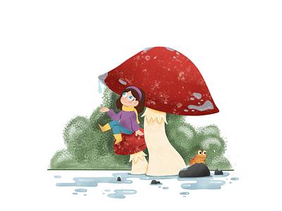 Mushroom kids children book illustration childrens illustration childrens book children mushroom