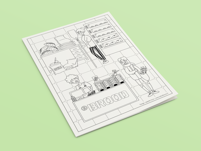 Coloring Page baking croissant bread man woman bakery store children coloring page coloring page