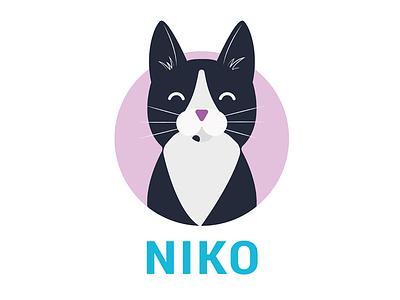 Niko happydesign kitten illustration niko infographic cat