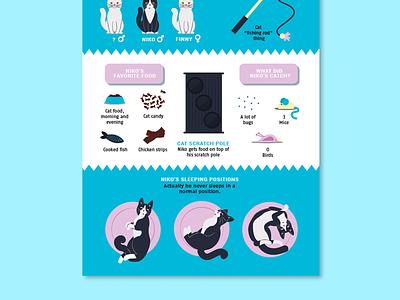 Nikos Infographic 2 toys nikos kitten infographic illustration drawing cat