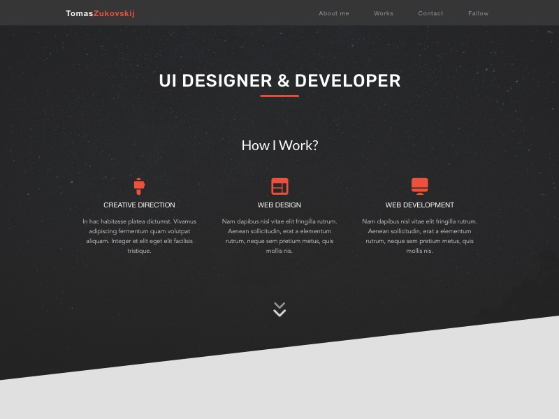 Own portfolio design ever first page landing-page ux ui design portfolio