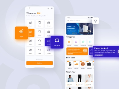 Delivery Categories and Dashboard for Turboo ux design typography icon orange gradient delivery service delivery app mockup mobile ui dashboard category categories delivery