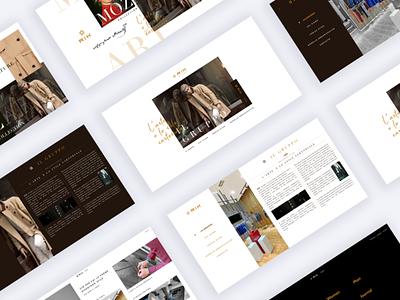 RIK Culture Landing Page uiux webdesign landing website web page fashion italian clothing culture rik