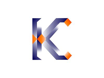 KC Logo Monogram colorful gradient branding rebrand brand orange logo monogram orange blue c logo k logo kc