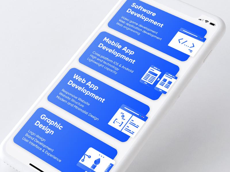 Services List App UI by Elti Meshau on Dribbble