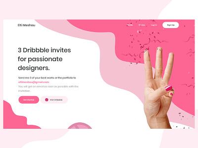 3 Dribbble Invites for Designers digital webdesign web mobile passionate two three design invite giveaway invite design free dribbble invites invite