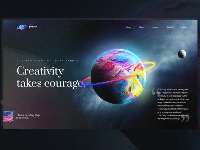 Colorful Planet Landing Page color world globe illustration gradient colorful art concept branding brand modern clean web landing page landing planet colorful