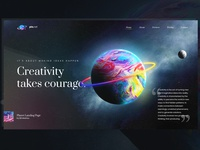 Colorful Planet Landing Page