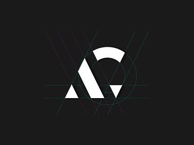 AG Logo Grid logodesign grid ui dribbble branding brand gradient design logo design logotype ag logo