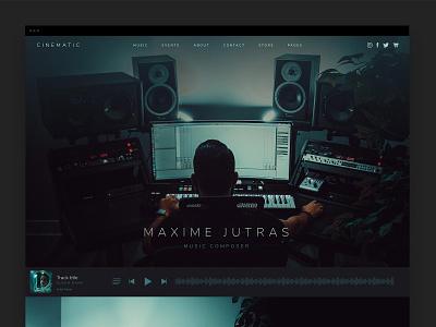 Cinematic Theme producer music wordpress ui web design