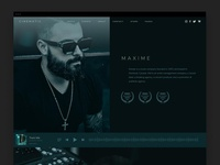Cinematic Theme - About Page ui producer music wordpress design wordpress web design
