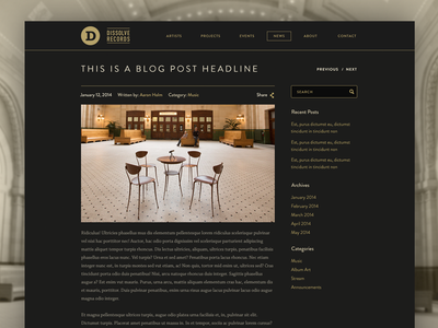 Blog - Post Page blog post record label brandon grotesque typography ui minimal
