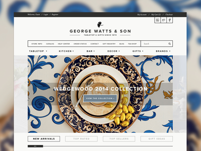George Watts home page interactive design ecommerce expression engine ui ux web design