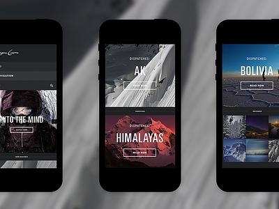 Sherpas Cinema - Mobile mobile responsive web design ui design ui ux interactive design