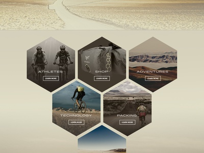 Apidura - Initial Concepts hexagons interface design biking bike web design