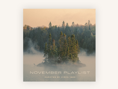 November - Soundcloud Playlist playlist cover art november music soundcloud designer playlist
