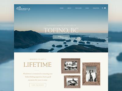 Fishing Charter - Home Page Design travel photography responsive british columbia fishing