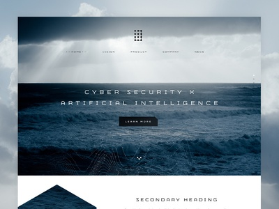 Jask - Home Concept wordpress one page web design cyber security