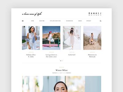 A Keene Sense Of Style blog design minimal blog ux design ui design wordpress blogger fashion blogger blog