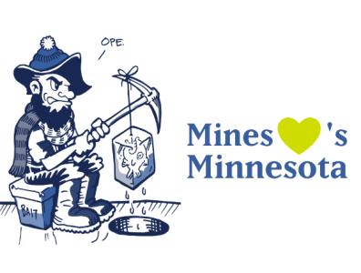 Mines Loves MN Pt. II vector university typography illustration flat