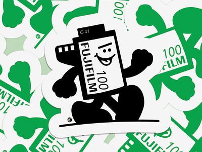 Film canister sticker illustration film sticker 35mm