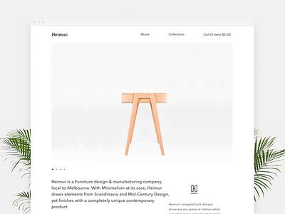 Heimur Furniture branding furniture web theme shopify