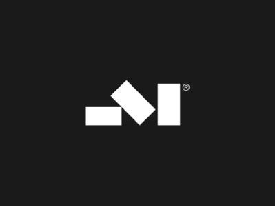 Model Space Outdoor Living lettermark m dark furniture branding design logo