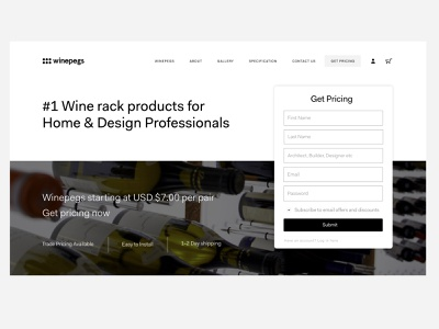 Sign up page - Ecommerce dailyui ecommerce wine ui signup clean