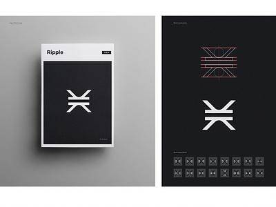 XRP process design app identity branding icon logo ripple bitcoin crypto xrp